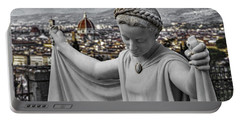 Portable Battery Charger featuring the photograph Angel Of Florence by Sonny Marcyan