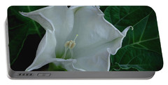 Angel Trumpet Opening Portable Battery Charger by James C Thomas