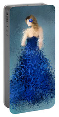 Portable Battery Charger featuring the digital art Angelica by Nancy Levan