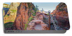 Angels Landing Hiking Trail Portable Battery Charger by JR Photography