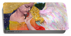 Angels Protect The Innocents Portable Battery Charger by Michele Avanti
