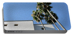 Angles And 3 Palm Tress Portable Battery Charger