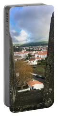Portable Battery Charger featuring the photograph Angra Do Heroismo From Forte De Monte Brasil by Kelly Hazel