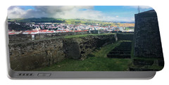 Angra Do Heroismo From The Fort Of Monte Brasil  Portable Battery Charger