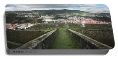 Angra Do Heroismo From The Fortress Of Sao Joao Baptista Portable Battery Charger by Kelly Hazel