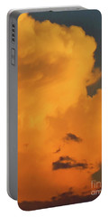 Angry Cloud Profile At Sunset Portable Battery Charger