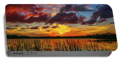 Angry Cloud Sunset Portable Battery Charger by Tom Claud