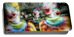 Portable Battery Charger featuring the photograph Angry Clowns by Wayne Sherriff