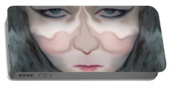 Portable Battery Charger featuring the photograph Angry Monster Child #1 by Barbara Tristan