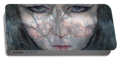 Portable Battery Charger featuring the photograph Angry Monster Child #2 by Barbara Tristan