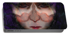 Portable Battery Charger featuring the photograph Angry Monster Child #6 by Barbara Tristan