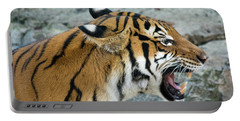Portable Battery Charger featuring the photograph Angry Tiger by John Black