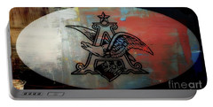 Anheuser Busch Eagle Painted Portable Battery Charger by Kelly Awad