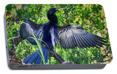 Portable Battery Charger featuring the photograph Anhinga Blue Eye by Deborah Benoit