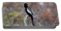 Portable Battery Charger featuring the photograph Anhinga by Gary Wightman