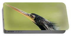 Portable Battery Charger featuring the photograph Anhingha Bird In Key West by Bob Slitzan
