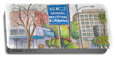 Anibal Hospital Burbank In Olive St., Burbank, California Portable Battery Charger by Carlos G Groppa