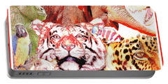 Animal Collage Digital Art Portable Battery Charger
