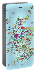 Animal Map Of Scotland For Children And Kids Portable Battery Charger