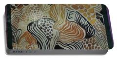 Animal Print Floor Cloth Portable Battery Charger