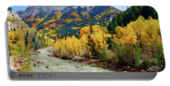 Animas River San Juan Mtns, Co, Panorama Portable Battery Charger