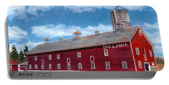 Portable Battery Charger featuring the painting Anken's Barn by Lynne Reichhart