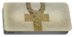 Ankh, Sacred Symbol, Pop Art By Mb Portable Battery Charger