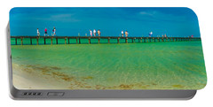 Anna Maria Island Historic City Pier Panorama Portable Battery Charger