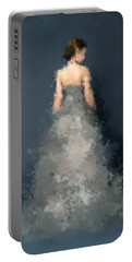 Portable Battery Charger featuring the digital art Anna by Nancy Levan