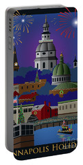 Annapolis Holiday With Title Portable Battery Charger