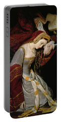 Anne Boleyn In The Tower Portable Battery Charger by Edouard Cibot