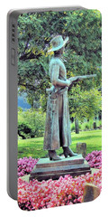 Portable Battery Charger featuring the photograph Bronze Of Belle Starr The Bandit Queen by Janette Boyd