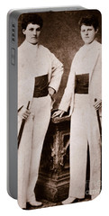 Annie Oakley And Her Sister Portable Battery Charger