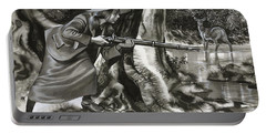 Annie Oakley Shooting A Buck Portable Battery Charger