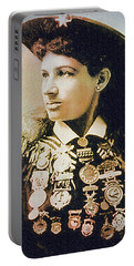 Annie Oakley - Shooting Legend Portable Battery Charger by Ian Gledhill