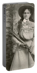 Annie Oakley With A Rifle, 1899 Portable Battery Charger