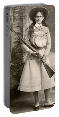 Annie Oakley With A Rifle Portable Battery Charger