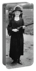 Annie Oakley With The Gun Buffalo Bill Gave Her, 1922 Portable Battery Charger