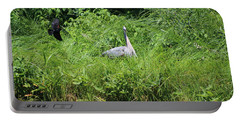 Annoyed - Heron And Red Winged Blackbird 1 Of 10 Portable Battery Charger