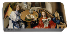 Annunciation Triptych, Merode Altarpiece, Central Panel Portable Battery Charger