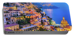 Another Glowing Evening In Positano Portable Battery Charger