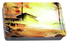Portable Battery Charger featuring the painting Another Good Morning by Anil Nene