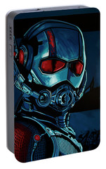 Ant Man Painting Portable Battery Charger by Paul Meijering
