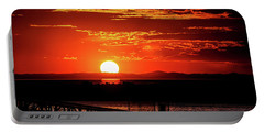 Antelope Island Marina Sunset Portable Battery Charger