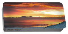 Portable Battery Charger featuring the photograph Antelope Island Sunset by Bryan Carter