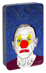 Portable Battery Charger featuring the drawing Anthony Hopkins by Jason Tricktop Matthews