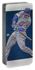 Anthony Rizzo Chicago Cubs Art 1 Portable Battery Charger