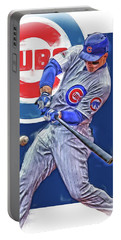 Anthony Rizzo Chicago Cubs Oil Art Portable Battery Charger