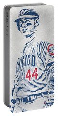 Anthony Rizzo Chicago Cubs Pixel Art Portable Battery Charger
