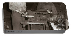 Anthracite Coal Artist  Charles Edgar Patience On Right  1906-1972 In Studio 1953    Portable Battery Charger
